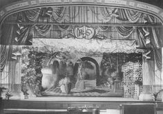 1900s painted backdrops magician shows vaudville theater - Google Search