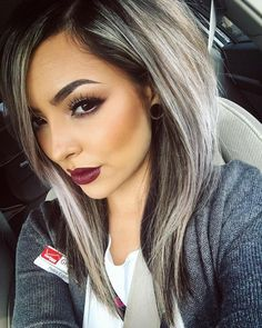 Lace Frontal Gray Wig Black Girl Wavy Bob Wig Hair Tinsel Salon Prices Brazilian Clip In Hair Extensions Hair Bundle Deals Near Me Ombré Hair, Hair Dos, Love Hair, Great Hair, Hair Tinsel, Hair Bundle Deals, Ash Blonde Hair, Brown Hair, Hair Color For Brown Eyes