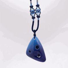 Taichi pendant ocarina in soprano g white crackle please pinterest 6 hole c major ocarina necklace aloadofball Image collections