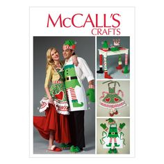 Aprons, Oven Mitts, Hat, Slippers, and Table Leg Decorations-All Sizes in One Envelope at Joann.com