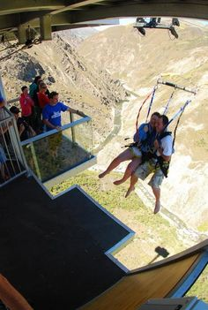Nevis Swing - The World's Biggest Swing. Much like the bungee jump, I would like to experience the World's Biggest Swing. I can imagine the thrill and adrenaline by doing something adventurous like this.