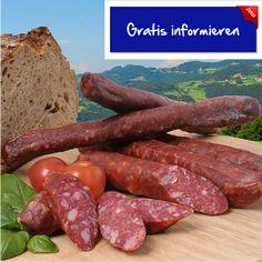 Kaltgeräucherte und luftgetrocknete Rohwurst aus Südtirol! Hier klicken: http://blogde.rohinie.com/2013/01/wurst/ #Italien #Suedtirol #Trentino #Salami #Kastelruth #Wurstspezialität