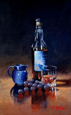 Whiskey still life with an excellent malt Talisker Skye Priced at £300 unframed