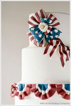 Online Cake Decorating Class The 2nd Cake of July  June 27, 2012 by Carrie Sellman	  Today is day two in our new cake series, The 4 Cak...