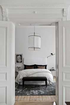 Scandinavian bedroom via Bjurfors