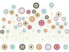 Bright Spring Flower Garden