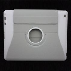 360 Degrees Rotating Smart Stand Pu Leather Case for The New iPad 3 - Grey