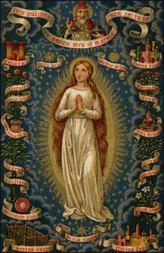 Dios padre declara la impecabilidad de la madre del Salvador.  Cipactli López Rodríguez