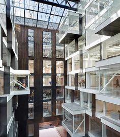 Office Building Inside London& new landmark workplace, the Alphabeta building by Studio RHE. Architecture Courtyard, Interior Architecture, Atrium Design, Building Skin, Student House, Office Interiors, Building Design, Madrid, Studio