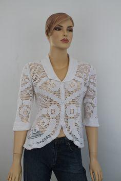 Listo para enviar / verano Crochet blanco algodón por levintovich