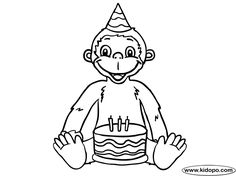 sock monkey coloring pages printable birthday monkey coloring page