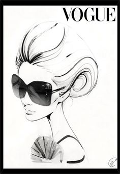An illustration for Vogue fashions by Nuno DaCosta