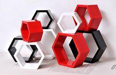 3PCS-Size-on-the-creative-wall-rack-wooden-paint-diamond-lattice-Home-decoration