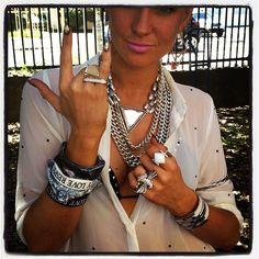 Lotus Mendes' designer Victoria Cheatham rocking her precious LM jewelz at Bondi Beach Markets xxx