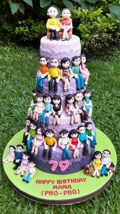 Happy 90th Birthday A Family Tree Cake Family Tree