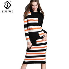 fd4068bd227 Hit Color knitted Striped 2 Piece Set Women Long Sleeve Crop Top and Skirt Sets  Sweater