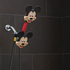 Get squeaky clean with your very own mickey mouse combo shower head…