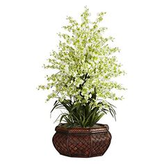 cool  Brighten up your favorite space Features full blooms and gorgeous leaves Sure to promise long-lasting beauty   https://www.silkyflowerstore.com/product/large-dancing-lady-with-round-vase-silk-arrangement/