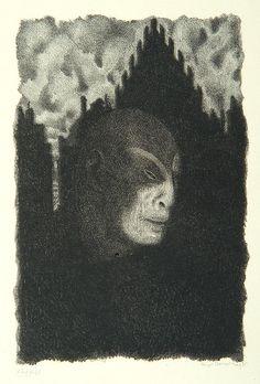 """Golem, from the 1916 book """"Der Golem,"""" illustrated by Hugo Steiner-Prag"""
