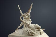 #Antonio #CANOVA (1757 - 1822)  Psyché ranimée par le baiser de l'Amour  Marbre - H : 1,55 m ; L : 1,68 m ; P : 1,01 m  MR 1777  Paris, musée du #Louvre
