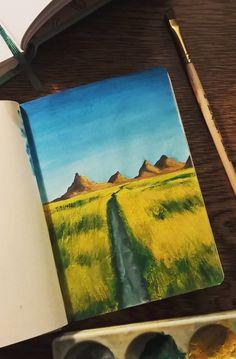 Sketchbook 10x15, gouache