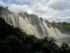 The Chutes De Boali, waterfalls of a height of 50 m ft) Tanzania, Uganda, African Countries, Republic Of The Congo, Continents, Travel Style, Adventure Travel, Places Ive Been, Natural Beauty