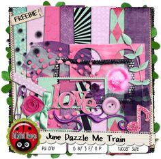 PolkaDot Scraps by Chassity: June Dazzle Me Blog Train FREEBIE