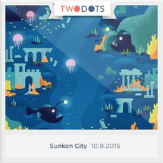 I found the Depth's Star in Sunken City! Think you can beat my score? #SunkenCity #TwoDots
