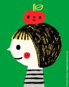 An Apple A Day - 8 x 10 Print Flora Chang