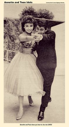 """Annette Funicello """"America's Girl Next Door"""" and Paul Anka"""