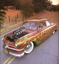 Shoebox Ford with flame paint