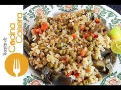 Arroz con guisantes casero. Vídeo y receta fácil | Recetas de Cocina Casera - Recetas fáciles y sencillas