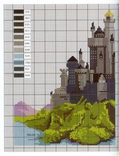 Castelo de Hogwarts - 2 partes (Link contém outros gráficos de Harry Potter)
