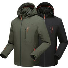 dbbd2ff25b Plus Size Super Water Resistant Quickly Dry Outdoor Climbing Anti Wind  Jacket for Mensales-NewChic Mobile
