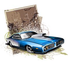 Paint scheme rendering I created for a pro-street Charger project...