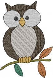 Animals(ATG Freedesigns) Embroidery Design: Owl on a Branch from Anns Club