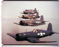 "Five Corsair in the ""Black Sheep Squadron"