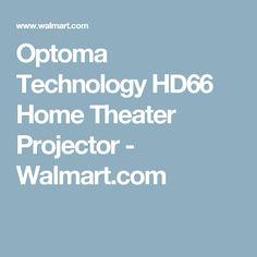Optoma Technology HD66 Home Theater Projector - Walmart.com