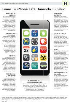 Cómo el iPhone está dañando tu salud #infografia #apple #health