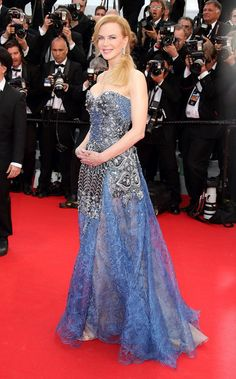 "Pin for Later: When They Say ""Dress to Impress,"" This Is What They Mean Nicole Kidman Princess Grace couldn't have done it any better! Nicole Kidman picked an aptly regal Armani Privé number for the Grace of Monaco premiere in Cannes."