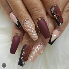 """925 Likes, 10 Comments - ReCreations & Inspirations (@vanessanailzfeatures) on Instagram: """"Sexiness by the beauty @nailsbyfabb """""""