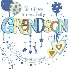 congratulations on the birth of your grandson card grandparents