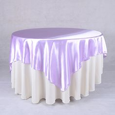 Lavender 60 x 60 Inch Square Satin #Overlays http://www.yourweddinglinen.com/Lavender-60-x-60-Inch-Square-Overlays-p/6060130.htm