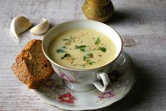 francuska zupa czosnkowa English Food, Cheeseburger Chowder, Tea Cups, Tableware, Recipes, Dinnerware, Tablewares, Ripped Recipes