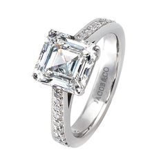 Engagement Ring | Jacob & Co. | Timepieces | Fine Jewelry | Engagement Rings - Square emerald cut diamond