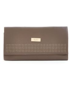 Another great find on #zulily! Taupe Stud Clutch #zulilyfinds