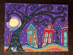 New Orleans Original painting Piety St folk art housesNew New Orleans Art, New Orleans Homes, Street Art News, Cross Art, Home Art, Original Paintings, Folk, The Originals, Canvas