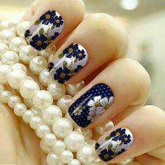 Azul Summer Nails, Nail Art, Ideas Para, Beauty, Amanda, Art Ideas, Nail Designs, Nail Stickers, Work Nails