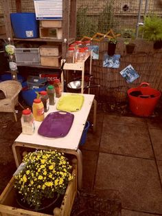 Mud Kitchen - nursery diary from St Mary's, Manchester Day nursery : kidsunlimited
