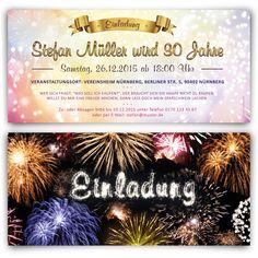 Einladungskarten im Feuerwerk Motiv.  #einladung #einladungskarten #party #geburtstag #winter #silvester #newyear #neujahr